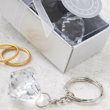 50 Diamond Design Key Chain Wedding Party Bridal Shower Party Favor Bulk Lot