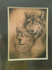 """Donna Jacobson Print """"SOUL MATES"""" Wolves Limited Edition #     of 750"""