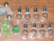 1 ROUND Glass Pendant/Vials rice bottle charm bracelet