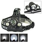4-Modes 6000LM 3X XM-L T6+2 R5 LED 18650 Headlamp Front Bicycle Light Head Torch