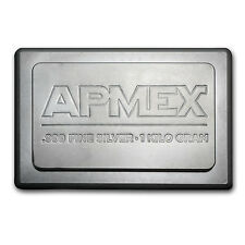 1 Kilo APMEX Silver Bar - Stackable Silver Bar - SKU #51412