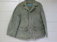 Vintage Sears Field Master Duck Hunting Jacket Sz 41 Oil Cloth Coat