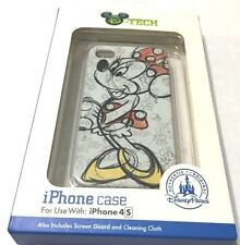 Disney Parks D-Tech Minnie Mouse Sketch Drawing iPhone 4/s Case Holder