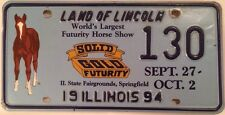 Illinois FUTURITY HORSE SHOW license plate low number 130 Poney Riding horseback