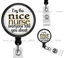 The Nice Nurse Clip On Retractable Identification Badge Reel Nursing ID holder