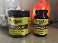 Both Dr. SCHULZE INTESTINAL #1 And #2 CLEANSE FORMULA-ORGANIC-COLON CLEANSE