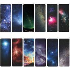12pcs galaxia de estrellas brillando literaria papel marcador nuevo fans