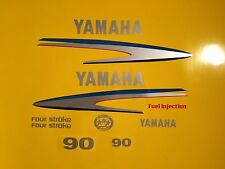 Yamaha 75/80/90hp Outboard Decal Sticker Kit Marine vinyl