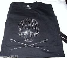 Mens Casual Shirt Marc Ecko Black Skull 100% Cotton T-Shirt Size Small New