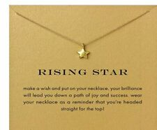 """RISING STAR necklace, gold dipped womens Jewelry Gift  16-18"""" new bag Celestial"""
