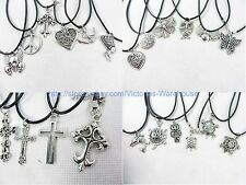 US SELLER-10 pieces hippie pendant necklaces wholesale fashion jewelry bulk lot