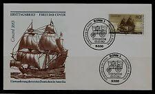 BRD FDC MiNr 1180 (6) 300. aniversario de inmigración de los primeros alemanes después de EE. UU.