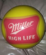 UNDRILLED VNTG MILLER HIGHLIFE 15# BOWLINGBALL(VIZABALL)NO RESERVE THIS TIME