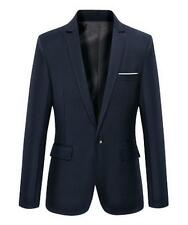 New Men's Slim Fit One Button Formal Blazers Business Dress Tuxedo Jacket Tops