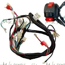 Full Electrics wiring harness 50CC/70/110CC&Switch ATV quad bike Buggy go kart