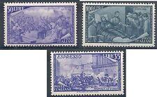 1948 ITALIA RISORGIMENTO 50 LIRE 100 LIRE ESPRESSO 35 LIRE CERTIFICATO MNH **