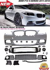 For 11-16 F10 5-Series With PDC M Tech Sport Style Front Bumper Grill Fog Light