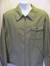 J Crew Full Zipper Green Check Oarsman Shirt Jacket Size Large
