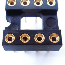 10x DIP8 8 Pin Gold-Plated Socket, for OPAMP or EEPROM