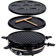 Syntrox Germany Basilea 3 en 1 raclette crepemaker parrilla para 6 personas
