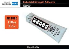 E6000 Clear Tube 3.7 oz 110 ml Industrial Strength Adhesive Glue nails jewellery