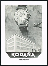 1950s Original Vintage 1951 Rodana Automatic Watch Factory Building Art Print AD