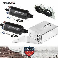 FG Ford Falcon XR6 Turbo 2 x Proflow 380LPH E85 Pump Polished Fuel Surge Tank