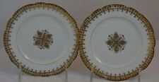 MR Limoges Double Fancy Gold Set of 2 Dessert Plates Bread Butter Snowflake