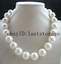 "big! south sea shell pearl white round 18mm AA necklace 17"" wholesale"