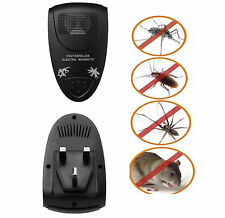 4 x Magnetic Ultrasonic Electronic Pest Mouse Bug Mosquito Insect Repeller black