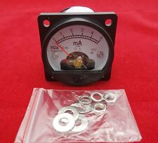 1PC AC 0-5MA Analog Ammeter Panel AMP Current Meter SO45 Cutout 45mm
