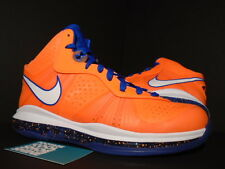 NIKE LEBRON VIII 8 V/2 HARDWOOD CLASSICS HWC PE PROMO SAMPLE NEW YORK ORANGE 10