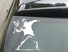 BANKSY arrojando flores car/window Jdm Vw Euro Dub Vinilo calcomanía adhesivo