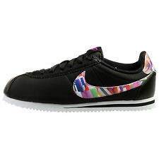 Nike Cortez Nylon Print Big Kids 859564-001 Black Athletic Shoes Youth Size 5