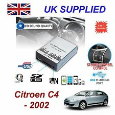 Para Citroën C4 SD USB CD Entrada Auxiliar Adaptador De Audio Digital