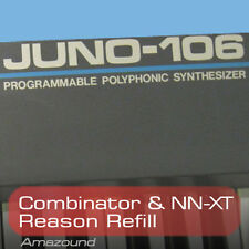ROLAND JUNO-106 REASON REFILL. COMBINATOR, NNXT PATCHES & SAMPLES