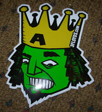 THREE FLOYDS BREWING Logo ALPHA KING STICKER decal craft beer brewery
