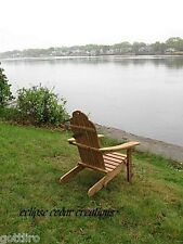 Solid Cedar Folding Adirondack Chair - Wood chair