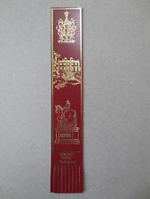 BOOKMARK Leather Newby Hall Yorkshire Burgundy Gold