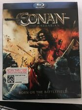Conan the Barbarian (Blu-ray Disc, 2011) Excellent With Slipcover Free Shipping