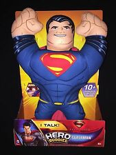 Superman Man of Steel Hero Buddies Action Figure Plush Brand New He Talks
