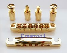 Gold Replacement Tune-O-Matic Bridge Tailpiece For LP Guitar Delivery From USA