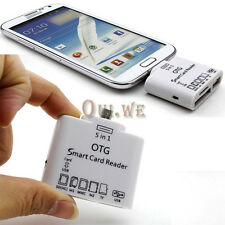 5in1 Micro USB OTG Card Reader Connection Kit for Samsung S3 S4 Note 2 HTC One