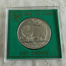 ISLE OF MAN 1997 LONG HAIRED SMOKE CAT PROOF CROWN - spink style case