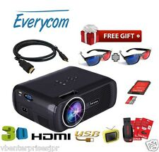New 2016 Everycom X7 Mini LED Projector, With 1800 lm, Upgraded model of EC77