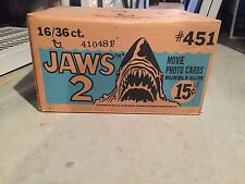 Topps 1978 Jaws 2 Movie UNOPENED CASE!! 16 Full Wax Boxes! Mint!