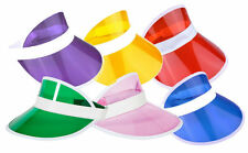 PK OF 6 NEON GOLF, SUN VISOR PUB GOLF 80s, DISCO, POKER, HEN, STAG, FANCY DRESS