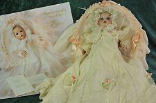 "Hamilton Collection Boehm ""Elena"" Porcelain Christening Doll In Bassinet #0965C"