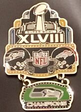 Super Bowl 48 Seahawks vs Broncos Hanging Champions Dangle Pin Peter David