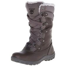 Timberland 9728 Womens Mount Hope Gray Winter Boots Shoes 9 Medium (B,M) BHFO